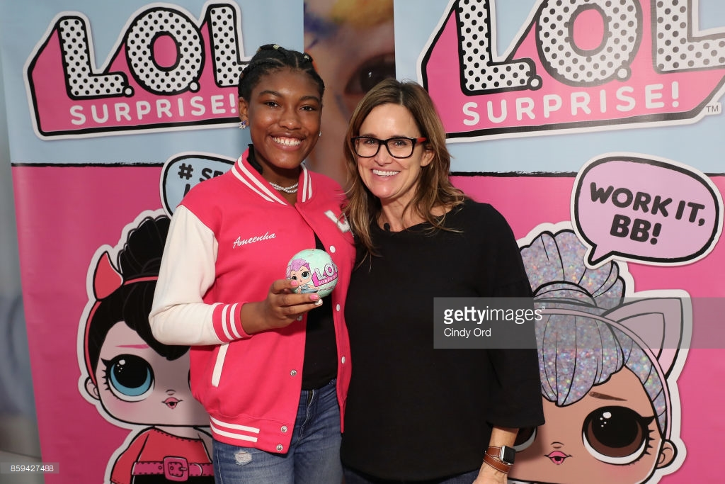 "Hilaria Baldwin hosts the launch of the L.O.L. Surprise! Unboxing Video Booth and L.O.L. Surprise! Pets at Toys ""R"" Us NYC on October 9, 2017 in New York City."